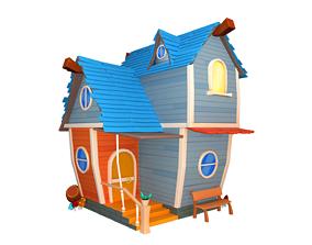model Asset - Cartoons - Background - House 3D