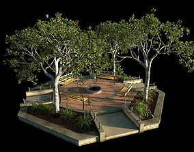 3D model Small Octagon Garden Bed with PBR