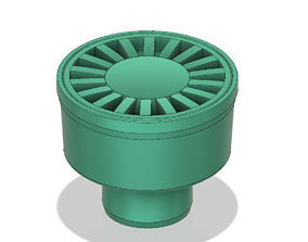 Floor simple Drain trap Round d100 odore block 3d print 1