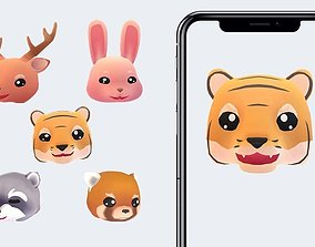 Animoji Animals 3D model