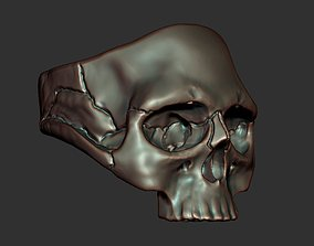 3D printable model skullring Skull Ring