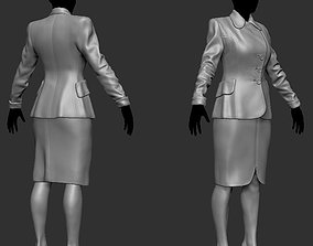 Office Lady ZBrush raw file 3D model