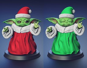 Baby Yoda - Santa Outfit Version - Fan Art 3D print model
