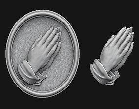 3D printable model Praying Hands Medallion