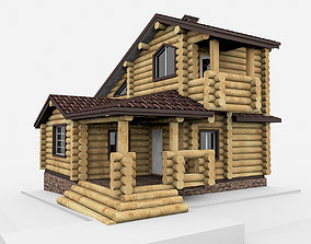 3D model Round Bar Timber House