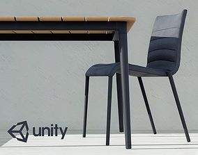 Enlight Table and Chair 01 3D model game-ready