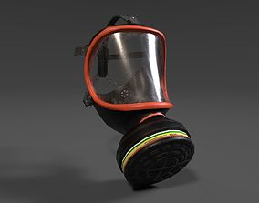 Gas Mask 3D asset low-poly