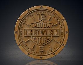 3D print model Harley Davidson wall clock