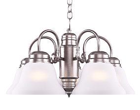 Design House Millbridge 5-Light Satin Nickel Chandeli 3D