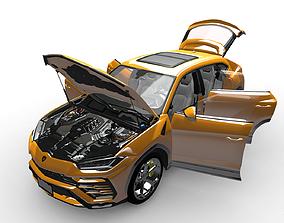 Lamborghini Urus 2019 with interiar 3D model