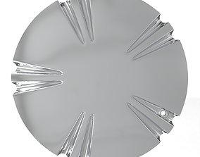 Verde V78 Helix Wheel Rim Chrome 3D printable model 2