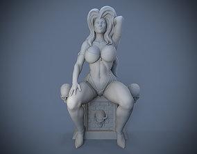 Lady Death Statue 3D print model