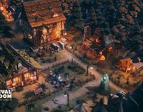 Medieval Kingdom 3D asset animated