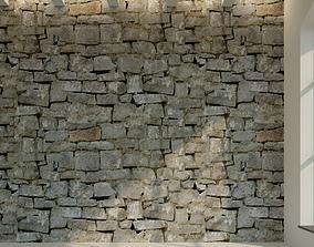 3D model Brick wall Old brick 40