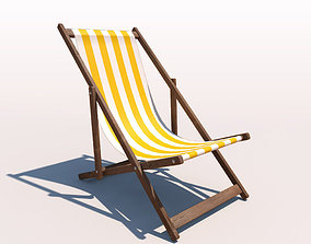 3D Deck Chair - Yellow