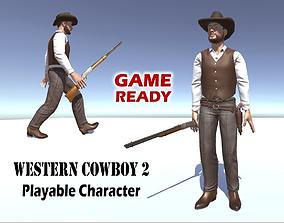 3D asset Western Cowboy 2