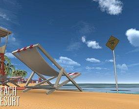 Beach - resort 3D model