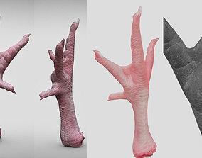 low-poly Raw Chicken feet 3dscan model