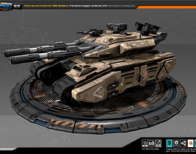 3D asset realtime RTS Heavy Tank - 03