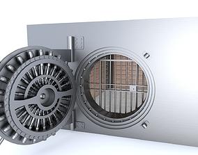 steel 3D model Bank Vault