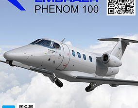Embraer Phenom 100 Low poly 3D asset