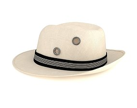 3D model Fedora Hat Isolated
