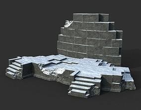 3D model Low poly Ancient Roman Ruin Construction 07 2