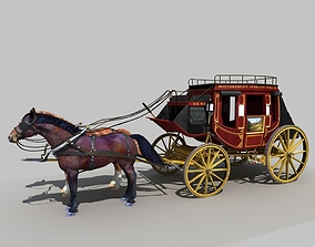 3D Horse and Carriage 01