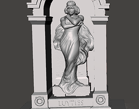 Herman Luyties MD Grave Marker St Louis 3D print model 1