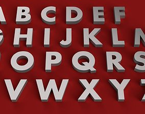 AHARONI Font uppercase and lowercase 3D Letters STL