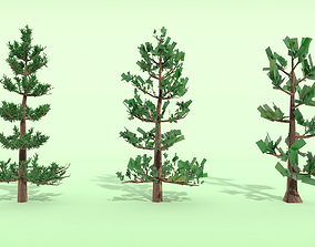 Conifer Tree LOD Pack 3D model