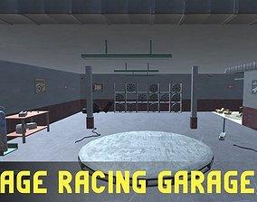 Vintage Racing Garage 3D asset