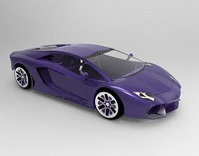 3D asset low-poly Lamborghini Aventador