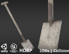 Game-ready Old Shovel - Unity - HDRP - UE4 3D model