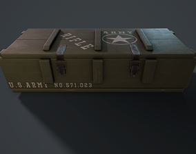 Military box 3D model game-ready