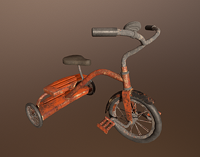 Abandoned Bicycle -PBR Game Ready 3D model low-poly