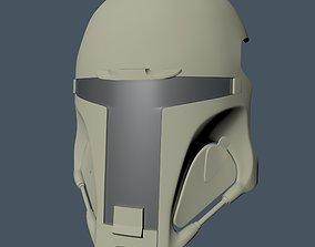 Boba Fett style airsoft visor 3D print model
