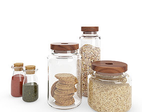 Kitchen Glass Jars 3D model