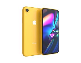 iPhone XR Yellow 3D