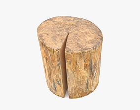 3D model Log Round Cracked