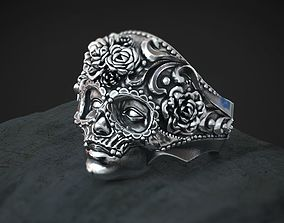 Masquerade Mask Skull Ring 3d model for 3d