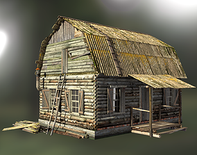 forest 3D model wooden house