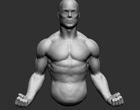 3D model Male Upper Body