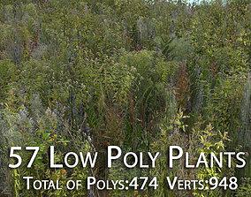 57 Low Poly Plants 3D model