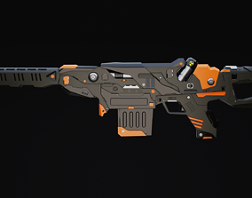 3D asset Rainer Rifle Scifi Game Ready