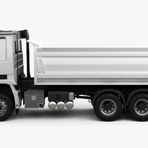 Truck Mersedes-Bens Actros Tipper 3-axle 2011 3D model