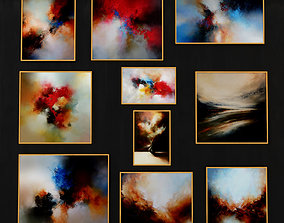Abstract Painting 006 3D asset low-poly