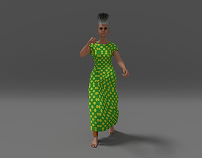 Mohawk Woman 3D