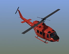 3D Bell 212 Rescue Helicopter