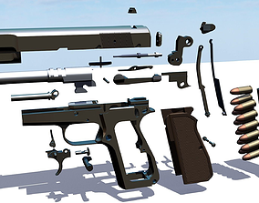 3D Browning Hi-Power all parts package